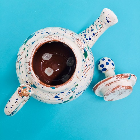 aerial view of scribble teapot by sarah monk