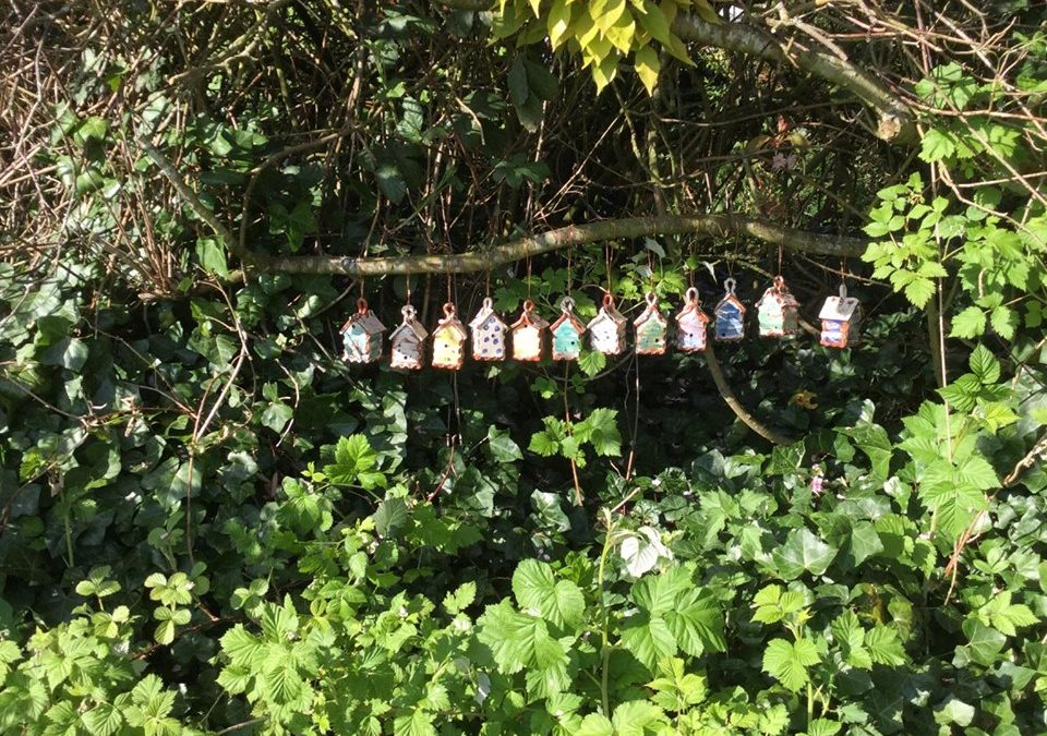 Bug Houses at Hellens Garden Festival 2020