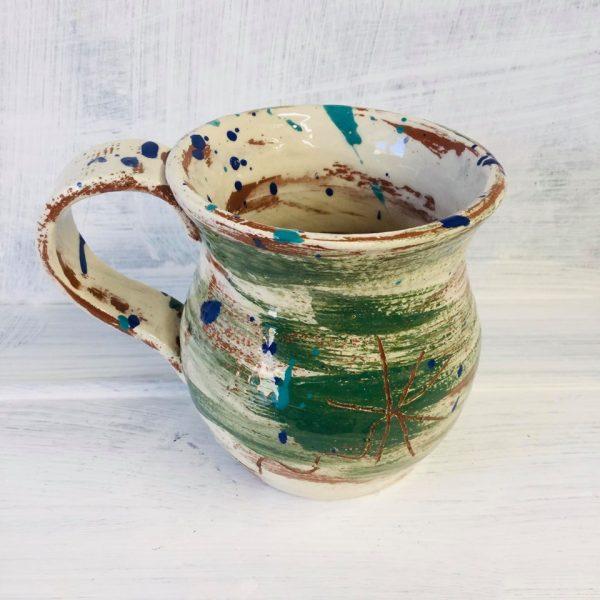 brushed green mug by sarah monk ceramics