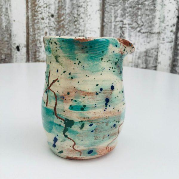 mini milk jug in teal by sarah monk ceramics